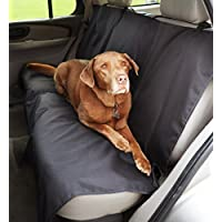 AmazonBasics Waterproof Car Back Bench Seat Cover Protector for Pets 56 x 47 (Black)