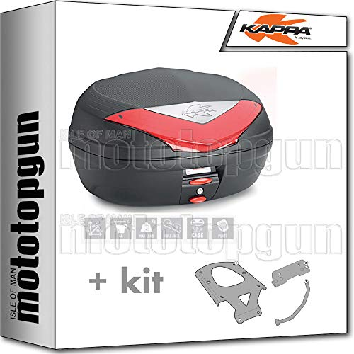 kappa maleta k466n 46 lt + portaequipaje monolock compatible con yamaha xenter 125 150 2020 20