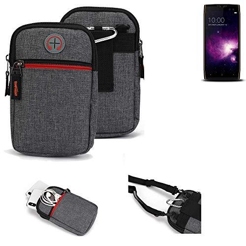 K-S-Trade® Gürtel-Tasche Für Doogee S50 Handy-Tasche Schutz-hülle Grau Zusatzfächer 1x