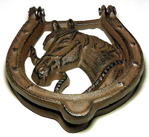 horse cast iron doorknocker - 8