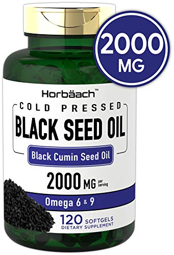Black Seed Oil 2000mg | 120 Softgel Capsules | Cold Pressed Liquid Softgels |...
