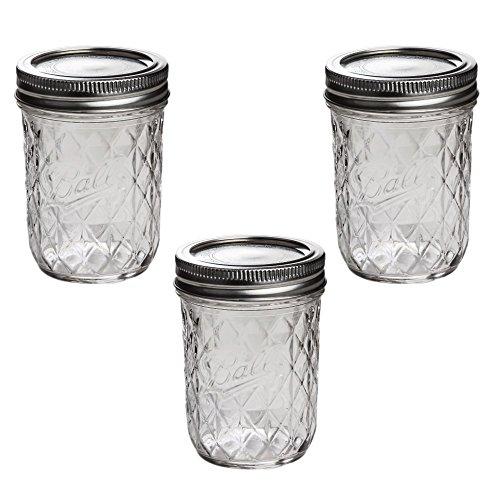 Unbekannt Ball Mason Quilted Crystal Jelly Jar 8oz/3er Set