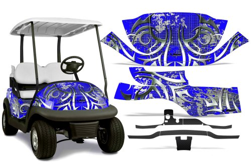 2008-2013 Club Car Precedent L2 AMRRACING ATV Graphics Decal Kit-Deaden-Black