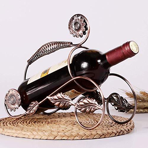 COOLSHOPY Estante de hierro simple para vino, sala de estar, decoración creativa, decoración del hogar