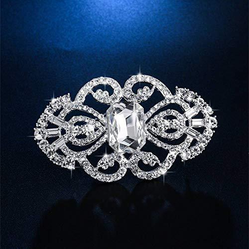 PCBDFQ Broche Shining Crystal Charm Bloem Broche Pin Mode Corsage Pin Bruidsboeket Sieraden Romantische Vrouwen Kleding Accessoires