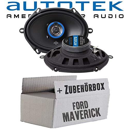 Lautsprecher Boxen Autotek ATX-572 | 2-Wege oval 13x18cm Koax Lautsprecher 5\'x7\' Auto Einbauzubehör - Einbauset für Ford Maverick 2 Front Heck - JUST SOUND best choice for caraudio