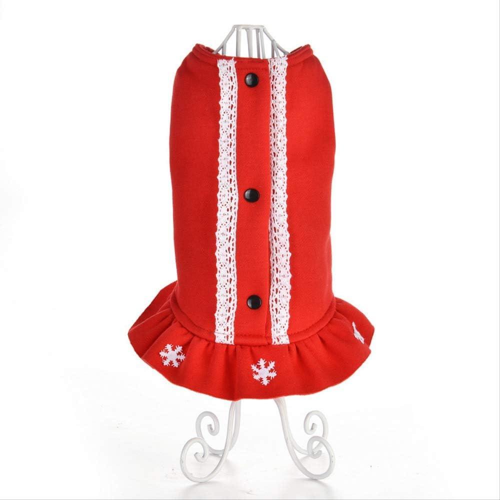 HUXXU Christmas Pet Skirt Warm Christma OFFicial site Dress Very popular Party Supplies