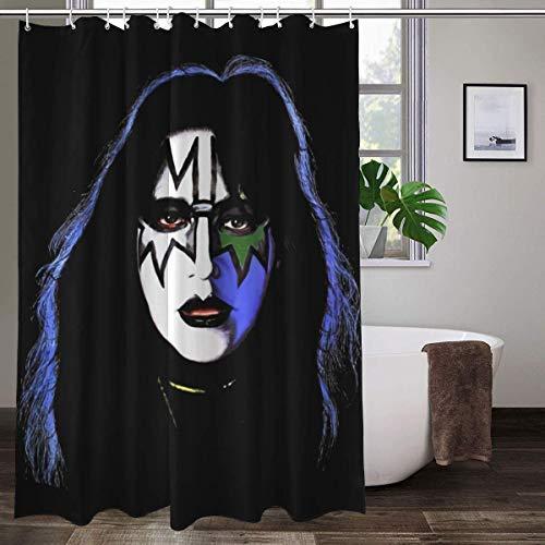 Ace Frehley KI-SS Rock Band Duschvorhang buntes Design wasserdichter Stoff Badezimmer Duschvorhang 152,4 x 183,9 cm