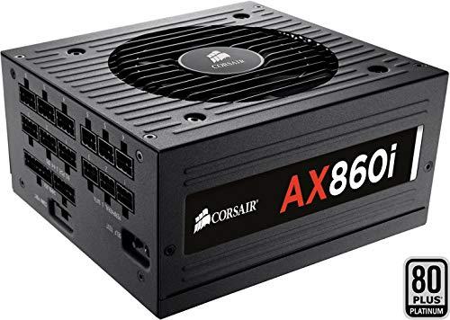 Corsair AX860 - Fuente de Alimentación (Completamente Modular, 80 Plus Platinum, 860 Watt, EU)