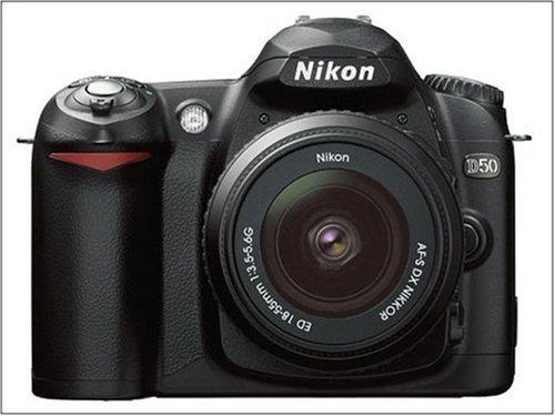 Nikon D50 - Cámara réflex Digital (Incluye Lente AF-S Zoom Nikon de 18 a 55 mm, 6 MP), Color Negro