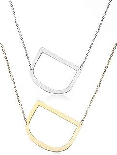 big letter d necklace
