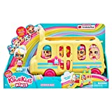 Kindi Kids Minis Collectible School Bus and Posable Bobble Head Figurine 2pc