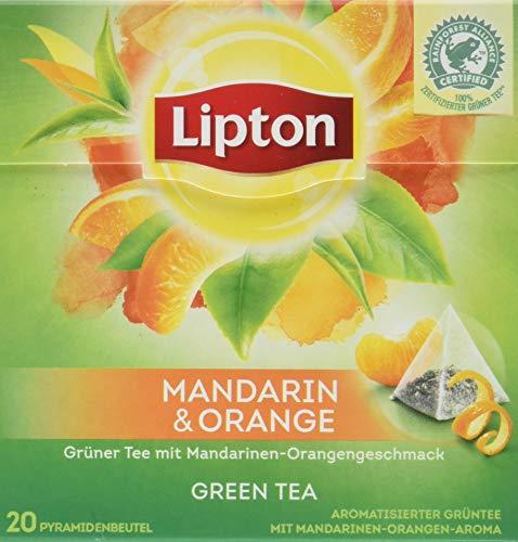 Lipton Tee (für einen aromatischen Geschmack Mandarin Orange aus nachhaltigem Anbau) 3 x 20 Pyramidenbeutel