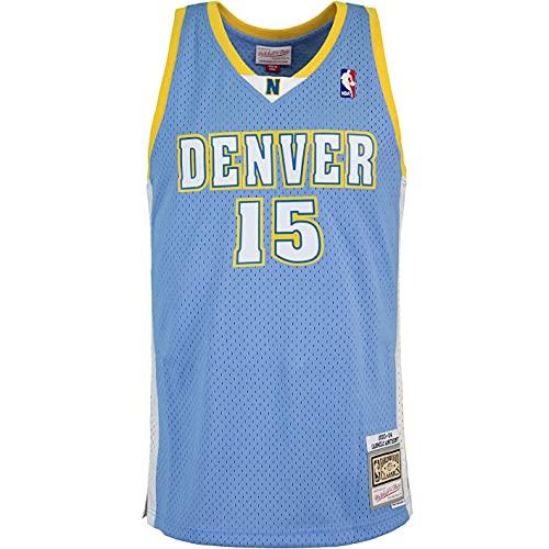 Mitchell & Ness Swingman Carmelo Anthony Denver Nuggets 03/04 - Camiseta (talla XXL, color azul)