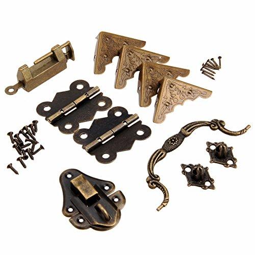 Protecciones de la esquina de la caja Cerradura de la cerradura Hasp con las bisagras de la manija Kit del hardware