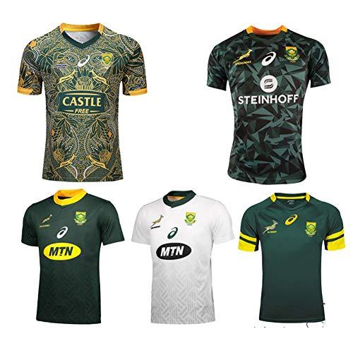 JUNBABY 2018 Südafrika Rugby-Trikot, Rugby-T-Shirt zum 100. Jahrestag, Herren-Poloshirt-Green-XXXL