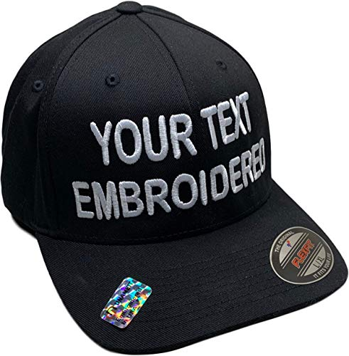 Custom Hat Flexfit 6277 Embroidered Your Own Text...