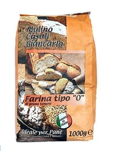 Farina Tipo '0' di Grano Tenero Italiano ideale per Pane - 1 kg - Molino Casali - 10 confezioni