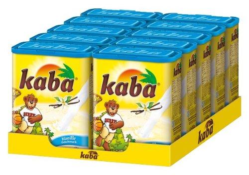 Kaba Vanille - Getränkepulver mit Vanille-Geschmack - 10 x 400g