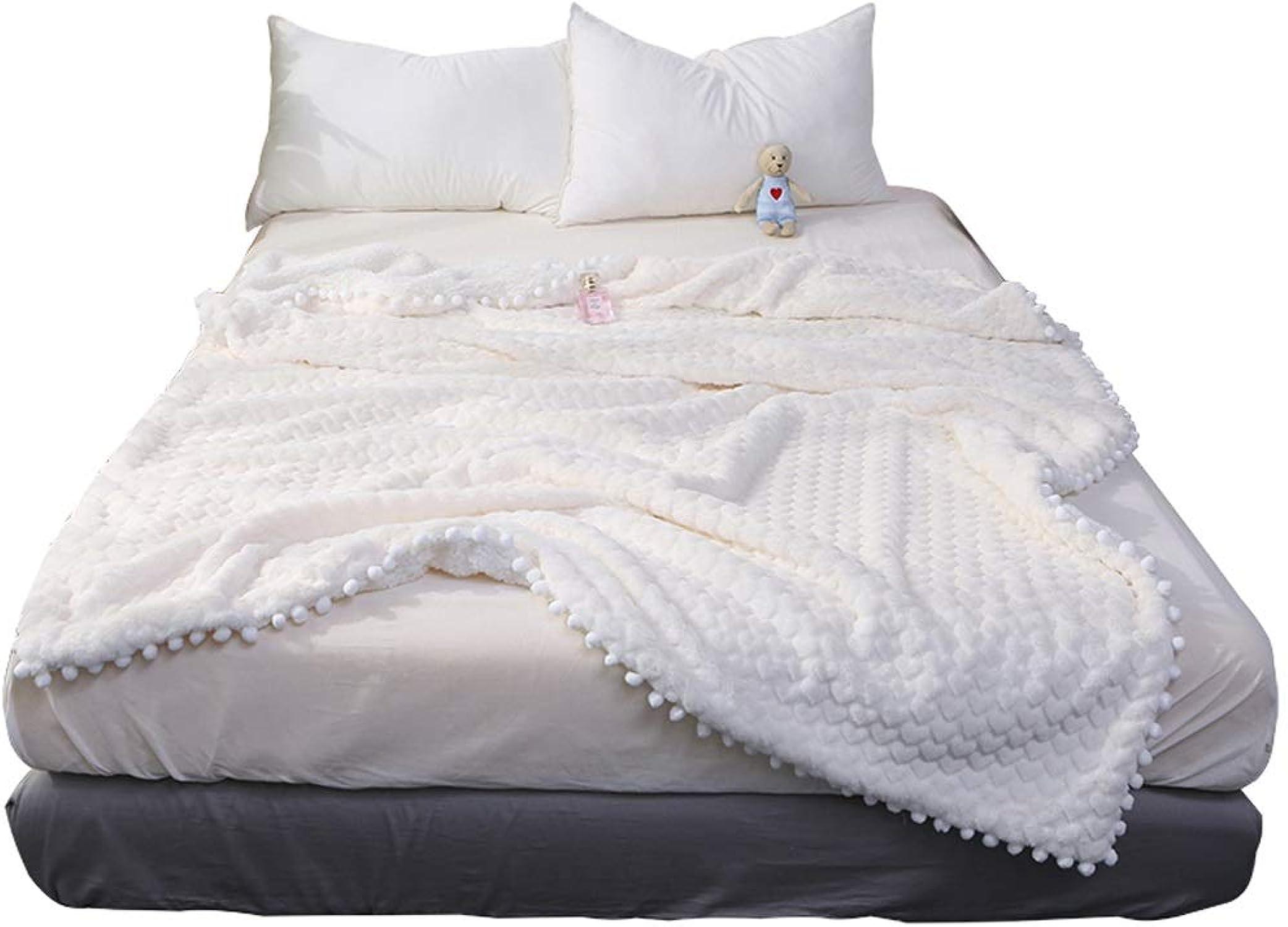 edición limitada en caliente QXX Manta Gruesa Gruesa Gruesa de otoo Invierno Toalla de Oficina Almuerzo Manta para sofá Cama Sofá (Color   blancoo, Tamaño   120  150cm)  genuina alta calidad