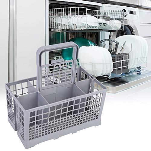 Changor Cesta de Cubiertos, con plástico 240x120x140mm Lavavajillas Almacenamiento de vajillas Universal Lavavajillas Cubiertos para Zanussi