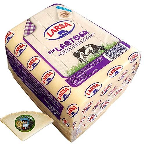 Queso Barra Sin Lactosa - Peso Aproximado 1500 gramos - Incluye Cuña Degustación Queso de Oveja Curado de REGALO - El queso ideal para sándwich que no puede faltar en las meriendas