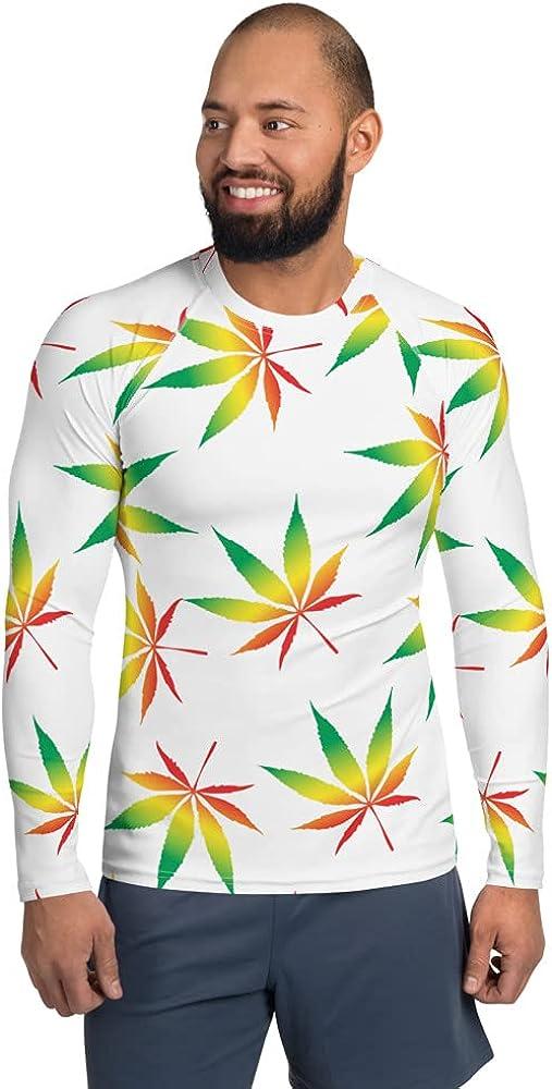 Weed Lovers Beach for Him Dad Husband Or Boyfriend Shirt Cannabis Swim Surf Ocean Outdoor Men's Rash Guard