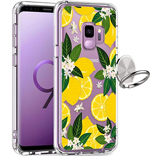 GiiKa Galaxy S9 Case, Clear Heavy Duty Shockproof Girls Women Protective Phone Cover Case for Samsung Galaxy S9, Yellow Lemons