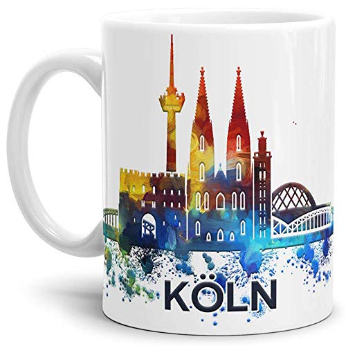 Köln-Tasse Skyline - Kaffeetasse/Mug/Cup - Qualität Made in Germany