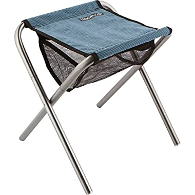 Trekology Camping Stool, Portable Folding Camp Stools - Ultralight Compact Camp Footrest Stool, Mesh bag for Storage, Great for a Quick Rest Outdoors and for Chores Close to the Ground (Blue, Large)