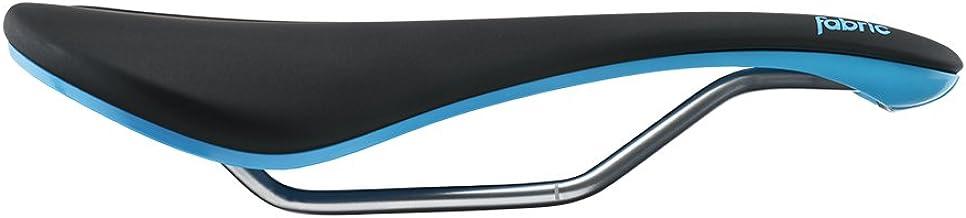 Fabric Line Elite Shallow Saddle: Black/Blue 134mm