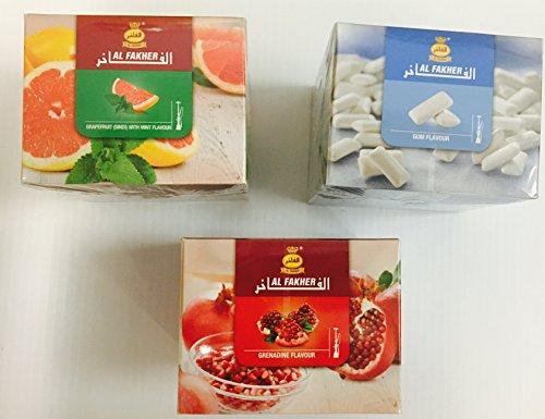 3 Packs Al Fakher Hookah Shisha Flavors 250g - Non Tobacco