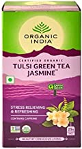 Organic india tulsi Green Tea Jasmine for Refreshing