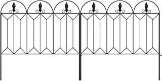Best Amagabeli Garden Fence 24inx10ft Outdoor Decorative Fencing Landscape Wire Fencing Folding Wire Patio Border Edge Section Fences Flower Bed Animal Barrier Décor Picket Black Rustproof Panels Wire FC04 Review