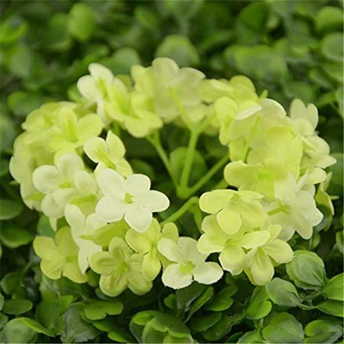 AOA 100pcs/90 Mini Silk Plum Blossom Artificial Flower Head For Wedding Home Decoration Wreath Flowers,Appple green