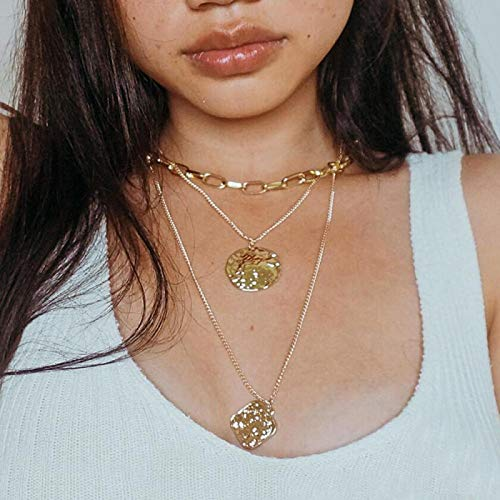 yuge 2020 Vintage Multilayer Gold Choker Necklaces For Women Girl New Eye Pearl Pendant Necklace Fashion Jewelry CS19070503