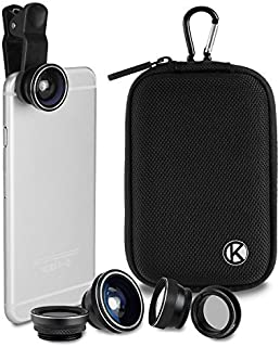 CamKix Bluetooth Camera Shutter Remote Control for Smartphones and 5 in 1 Universal Lens Kit Create Amazing Photos and Sel...