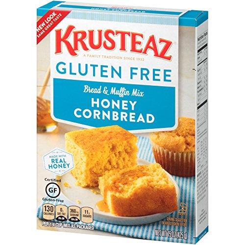 Krusteaz Honey Cornbread & Muffin Mix, 15 Ounce Gluten Free (2 Pack)