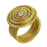 NOVICA Handcrafted Golden Grass Sparkling Cocktail Ring, Jalap�o Evolution'