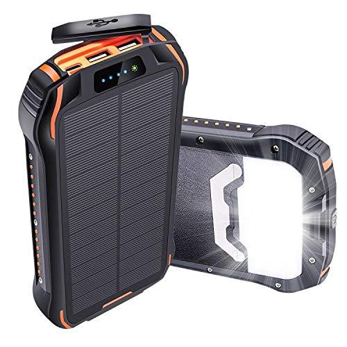 Batterie Externe Solaire 26800mAh IPX6 Chargeur...