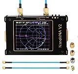 AllAboutFun NanoVNA V2 - Analizador de red de vectores 3G de 3,2 pulgadas -S-A-2-NanoVNA V2, 50 kHz ~ 3 GHz de onda corta, HF-UKW-UHF, filtro de medición duplex con batería de 1950 mAh