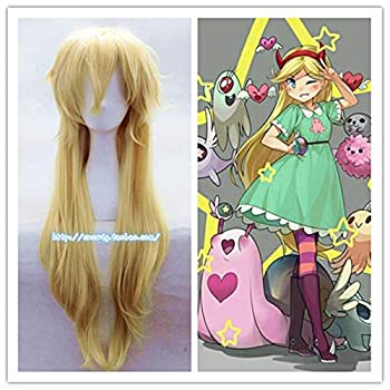 Cartoon Movie Star vs The Forces of Evil Princess Star Butterfly Cosplay Wig Women Star Butterfly Role Play Long Hair Wig