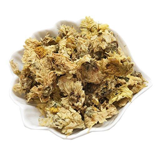 PEPPERLONELY 1 oz Organic Kosher Certified Botanical Dried Edible Yellow Chrysanthemum Flowers