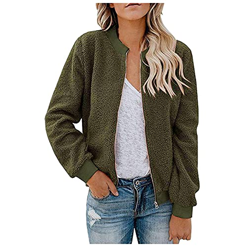 PLENTOP Womens Hoodies Long Sleeve Tunic Top Button Down V Neck Drawstring Henley Oversized Shirt Sweatshirt Blouses Army Green