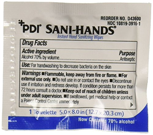PDI - D43800 Sani-Hands Instant Hand Sanitizing Wipes, Pack...