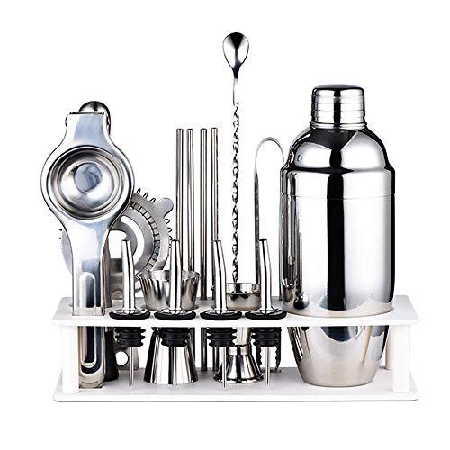 MIEMIE Kit de Fabrication de Cocktails Barman 17 pièces Ensemble de Barres Shaker Perfect Home Tool avec Accessoires pour Une expérience de mélange de Boissons géniale
