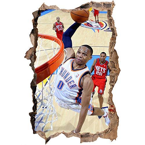 Nensuo 3D York Knicks NBA Basketball Home Decor Art Wall Vinyl PVC Sticker 60 * 90CM-C_80*120CM