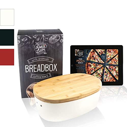 Dolce Mare® Panera - Caja para Pan de Madera -