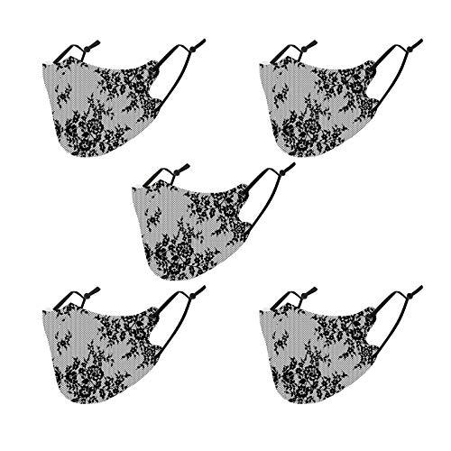 5 Piezas Tela Proteccion para Adultos se Puede Calentar Ajustable diseño de Encaje,Material de algodón Espacial