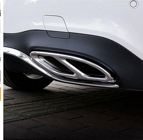 Edelstahl-Rohr Throat Auspuff Ausgänge Heckrahmenabdeckung Trim Für W213 W205 Coupe W246 W216 GLC GLE GLS CLA